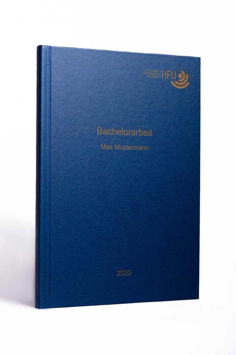 Hardcover blau goldenen Schrift