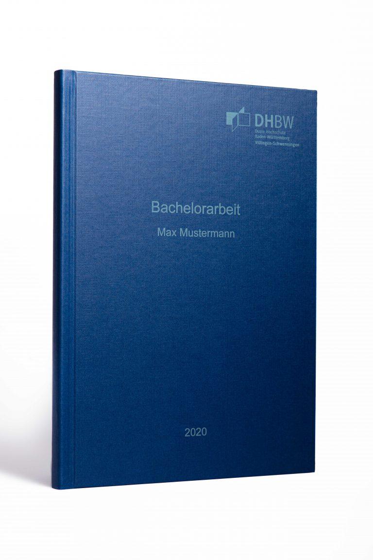 Hardcover blau helle Schrift