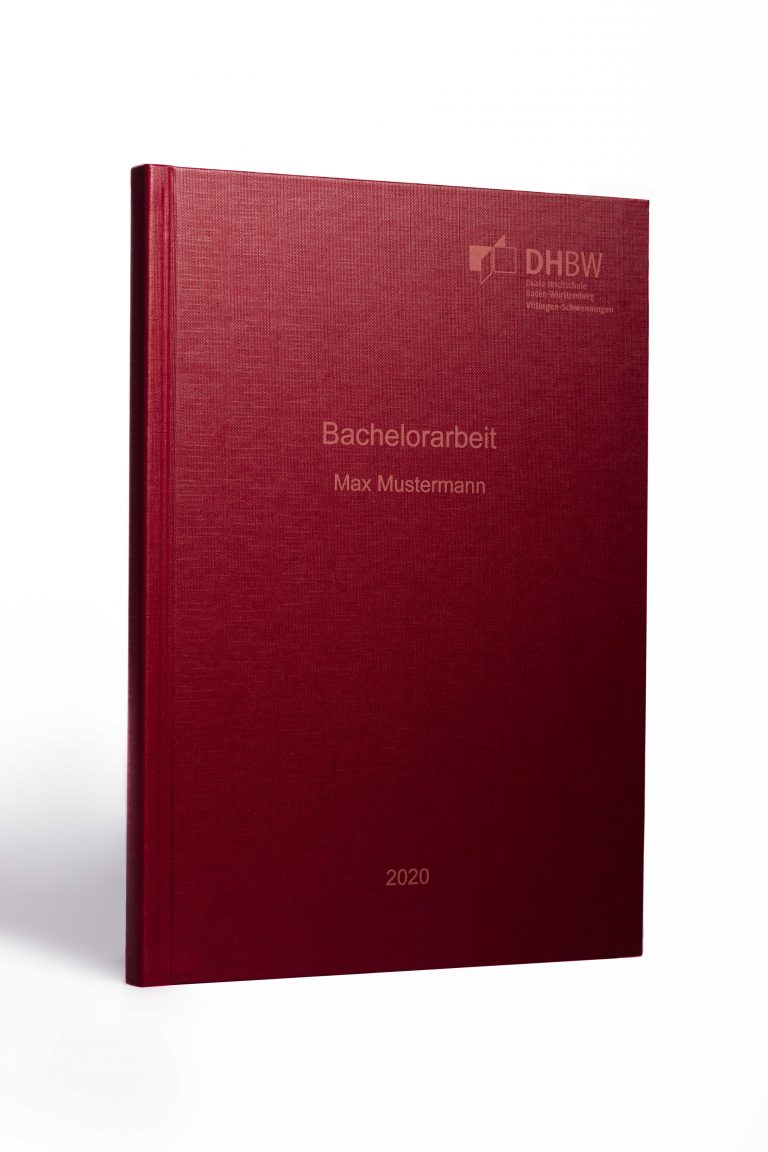 Hardcover rot helle Schrift