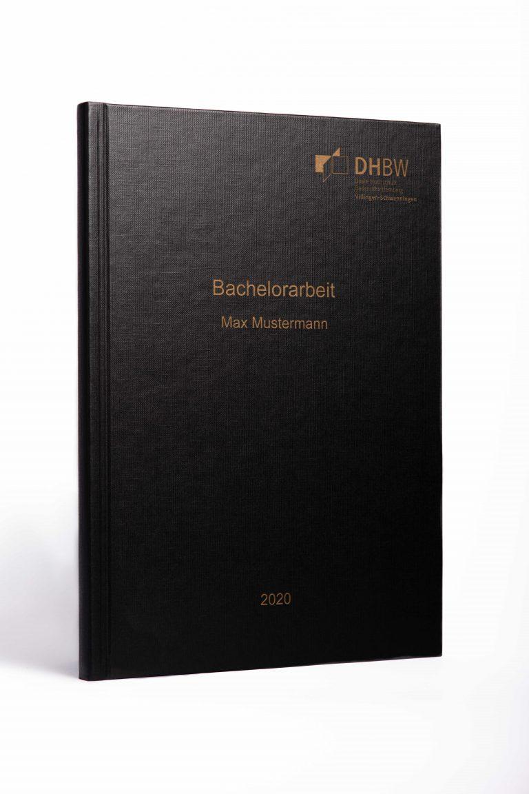 Hardcover schwarz goldene Schrift
