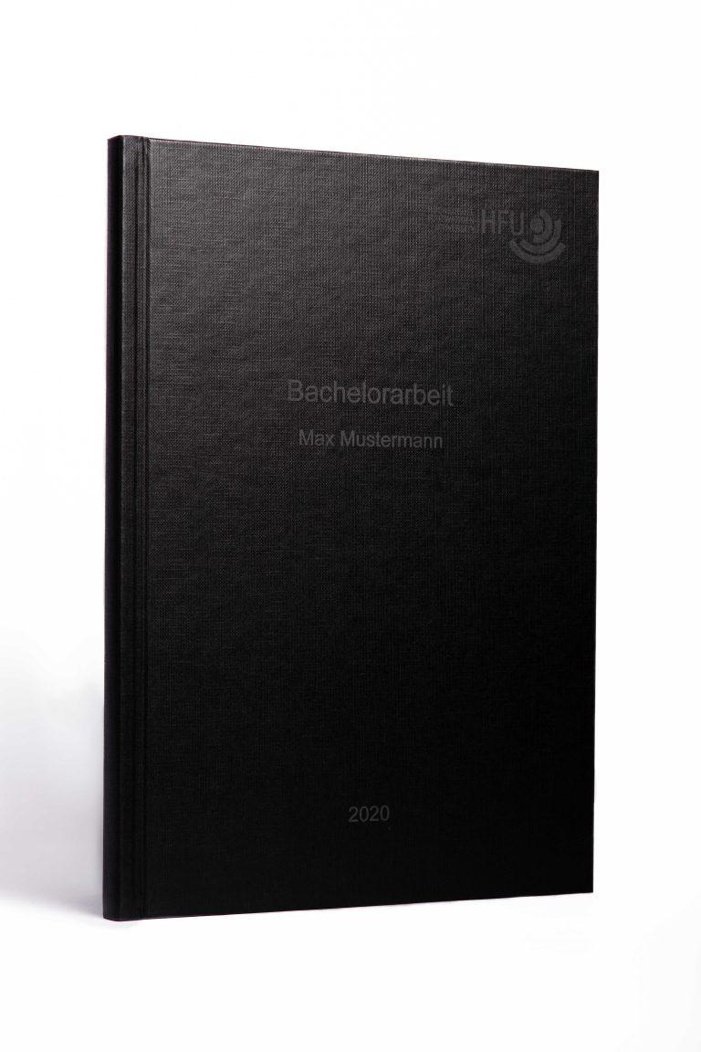 Hardcover schwarz helle Schrift