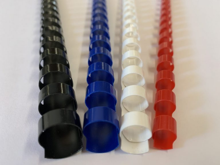 Kunststoffspirale mögliche Farben