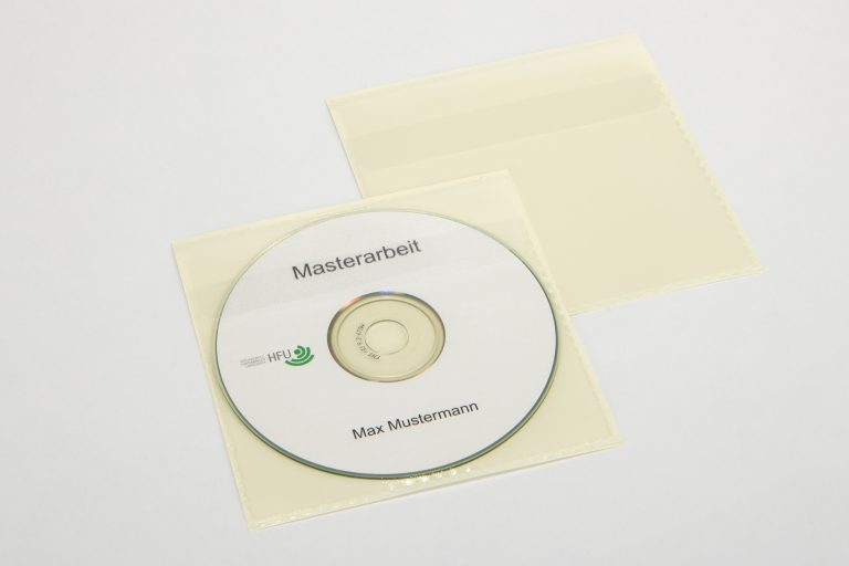 CD Hülle mit bedruckter CD