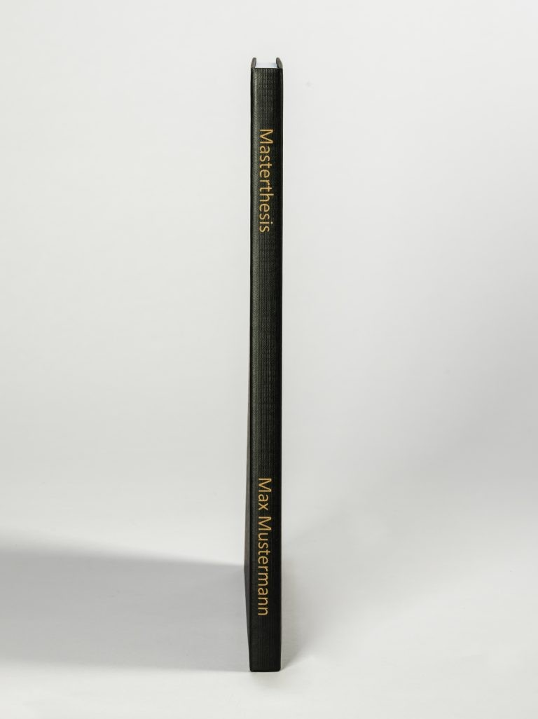 Hardcover schwarz Rückengravur